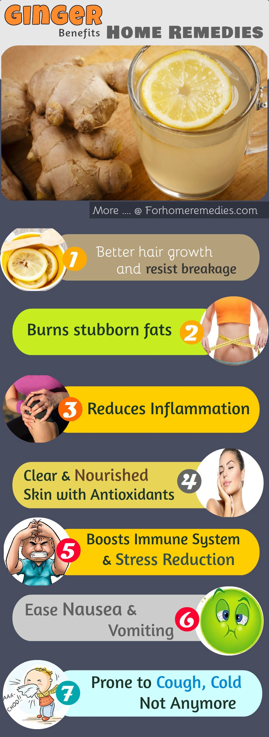 Ginger Home remedies and benefits of ginger