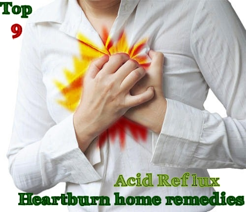 Home remedies to get rid of heartburn acid reflux