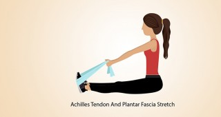 Achilles-Tendon-And-Plantar-Fascia-Stretch  exercise for  foot pain