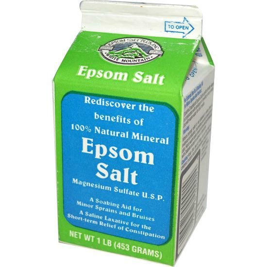 Epsom Salt uses bath and for home remedies