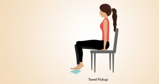 Towel-Pickup  exercise for  foot pain