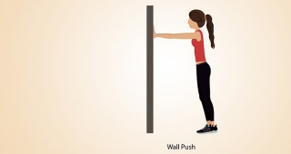 Wall-Push exercise for  foot pain