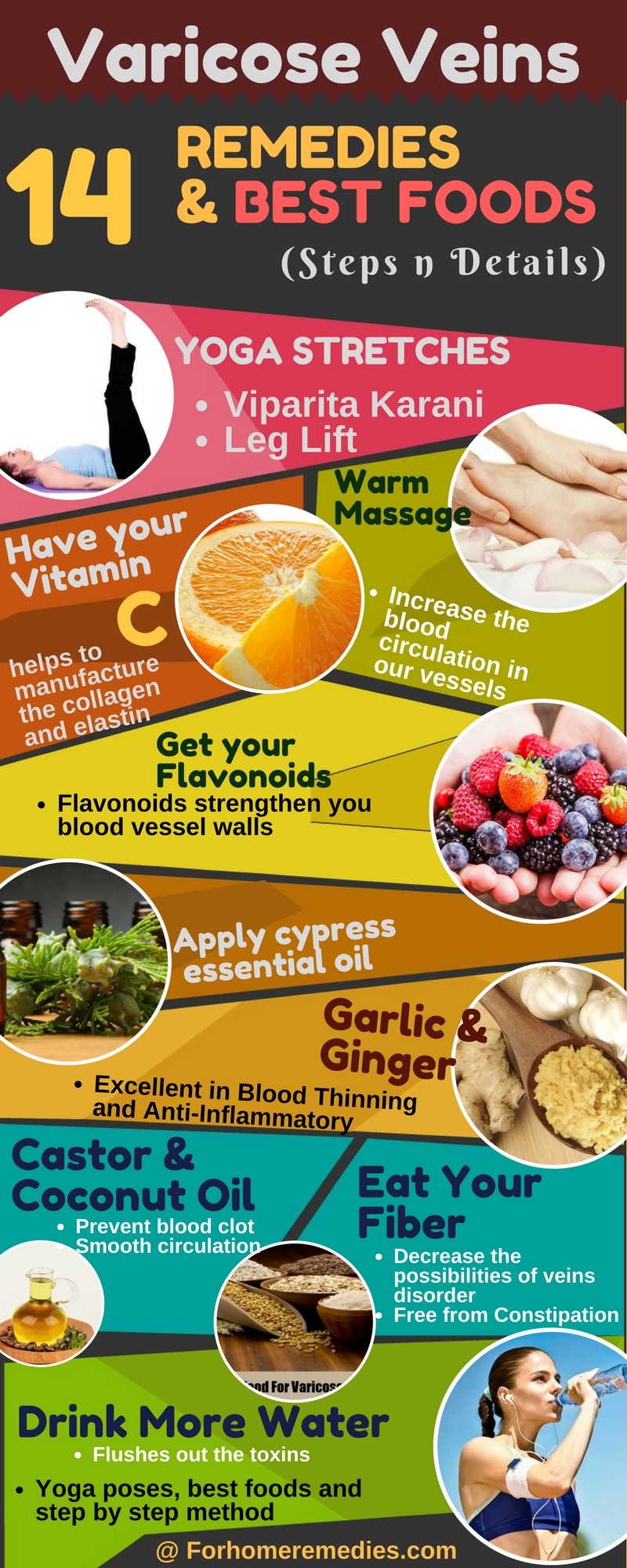 Home remedies for varicose veins and best foods, yoga poses, exercise, essential oils and massage for pain relief