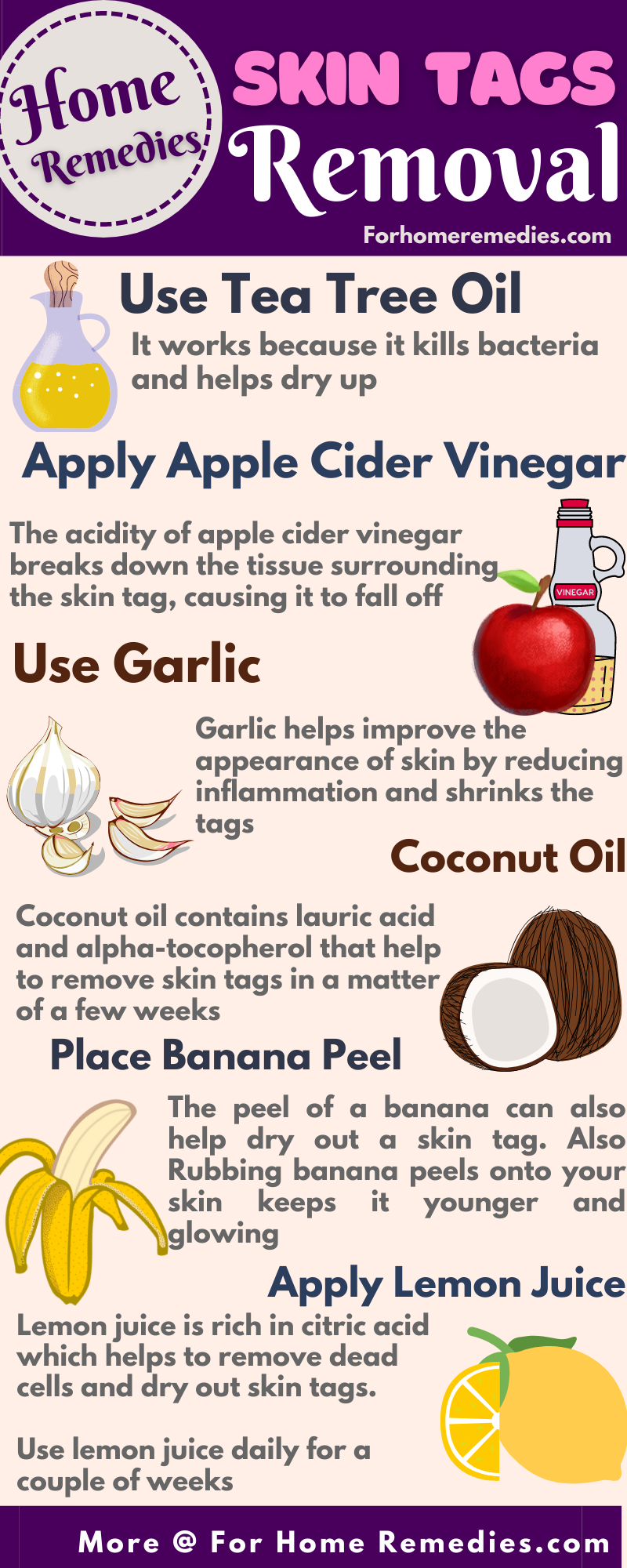 Home Remedies for Skin Tags Removal - Oils and Acv to get rid of skin tags